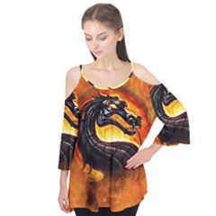 Dragon And Fire Flutter Tees