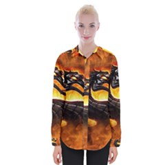 Dragon And Fire Womens Long Sleeve Shirt