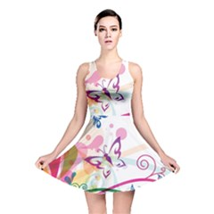 Butterfly Vector Art Reversible Skater Dress