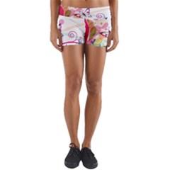 Butterfly Vector Art Yoga Shorts