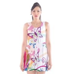 Butterfly Vector Art Scoop Neck Skater Dress by BangZart