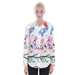 Butterfly Vector Art Womens Long Sleeve Shirt