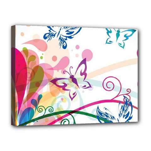 Butterfly Vector Art Canvas 16  X 12