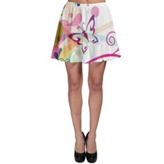 Butterfly Vector Art Skater Skirt