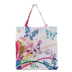 Butterfly Vector Art Grocery Tote Bag by BangZart