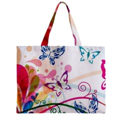 Butterfly Vector Art Zipper Mini Tote Bag