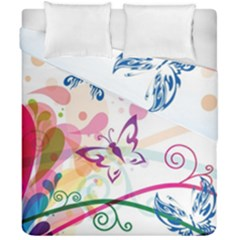 Butterfly Vector Art Duvet Cover Double Side (california King Size)