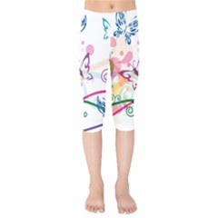 Butterfly Vector Art Kids  Capri Leggings