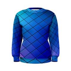 Blue Pattern Plain Cartoon Women s Sweatshirt