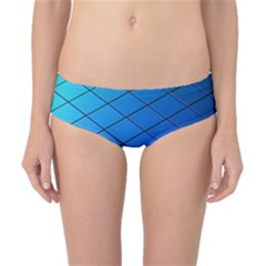 Blue Pattern Plain Cartoon Classic Bikini Bottoms