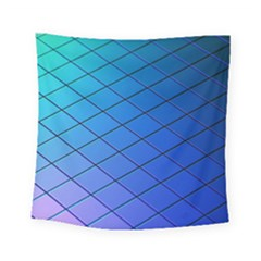 Blue Pattern Plain Cartoon Square Tapestry (small)