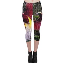 Cendrawasih Beautiful Bird Of Paradise Capri Leggings
