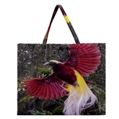 Cendrawasih Beautiful Bird Of Paradise Zipper Large Tote Bag by BangZart