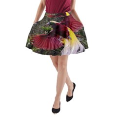 Cendrawasih Beautiful Bird Of Paradise A Line Pocket Skirt