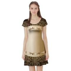Floral 3 Short Sleeve Skater Dress