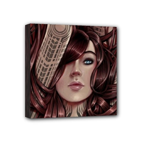 Beautiful Women Fantasy Art Mini Canvas 4  X 4