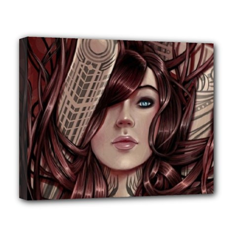 Beautiful Women Fantasy Art Deluxe Canvas 20  X 16