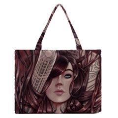 Beautiful Women Fantasy Art Medium Zipper Tote Bag
