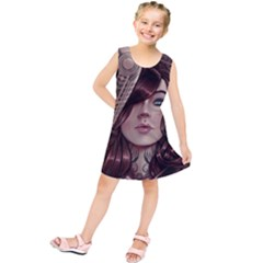 Beautiful Women Fantasy Art Kids  Tunic Dress by BangZart