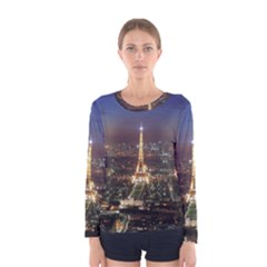 Paris At Night Women s Long Sleeve Tee