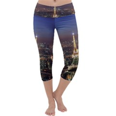 Paris At Night Capri Yoga Leggings