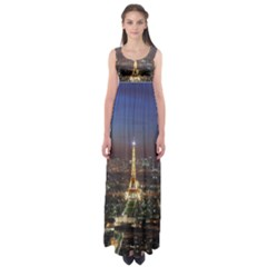 Paris At Night Empire Waist Maxi Dress