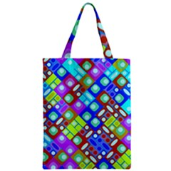 Pattern Factory 32b Zipper Classic Tote Bag by MoreColorsinLife