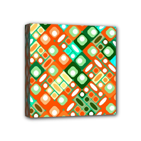 Pattern Factory 32c Mini Canvas 4  X 4  by MoreColorsinLife