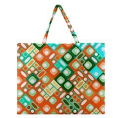 Pattern Factory 32c Zipper Large Tote Bag by MoreColorsinLife