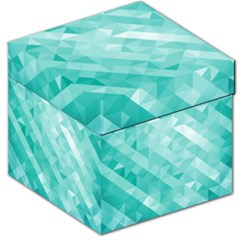 Bright Blue Turquoise Polygonal Background Storage Stool 12
