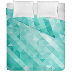 Bright Blue Turquoise Polygonal Background Duvet Cover Double Side (california King Size)