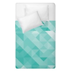 Bright Blue Turquoise Polygonal Background Duvet Cover Double Side (single Size)