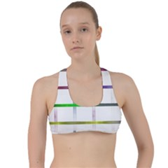 Blurred Lines Criss Cross Racerback Sports Bra