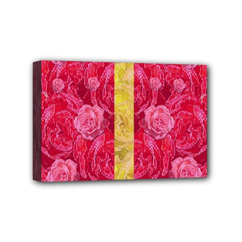 Rose And Roses And Another Rose Mini Canvas 6  X 4  by pepitasart