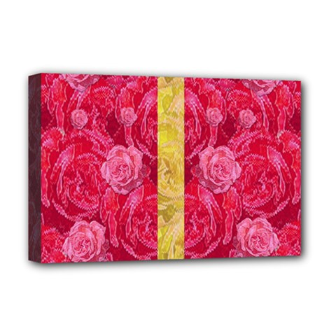 Rose And Roses And Another Rose Deluxe Canvas 18  X 12   by pepitasart