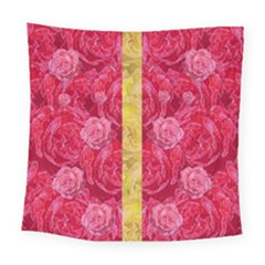 Rose And Roses And Another Rose Square Tapestry (large) by pepitasart