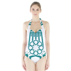 Seal Of Hamedan  Halter Swimsuit