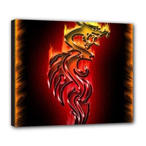 Dragon Fire Deluxe Canvas 24  X 20
