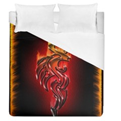 Dragon Fire Duvet Cover (queen Size)