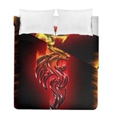 Dragon Fire Duvet Cover Double Side (full/ Double Size)