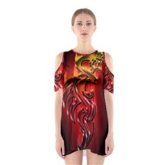 Dragon Fire Shoulder Cutout One Piece