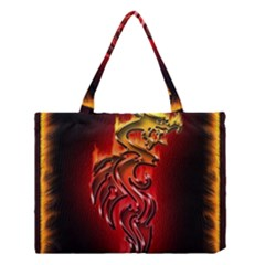 Dragon Fire Medium Tote Bag by BangZart