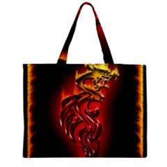 Dragon Fire Medium Zipper Tote Bag