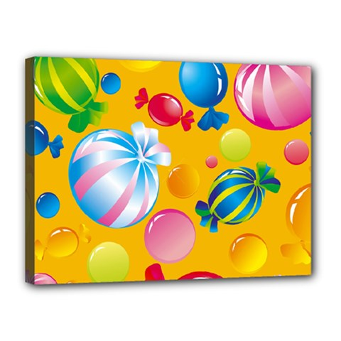 Sweets And Sugar Candies Vector  Canvas 16  X 12