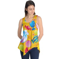 Sweets And Sugar Candies Vector  Sleeveless Tunic