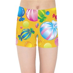 Sweets And Sugar Candies Vector  Kids Sports Shorts