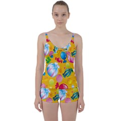 Sweets And Sugar Candies Vector  Tie Front Two Piece Tankini