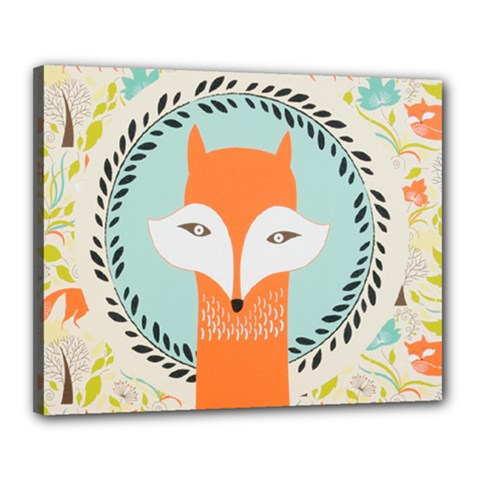 Foxy Fox Canvas Art Print Traditional Canvas 20  X 16