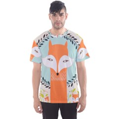 Foxy Fox Canvas Art Print Traditional Men s Sports Mesh Tee