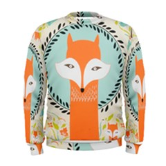 Foxy Fox Canvas Art Print Traditional Men s Sweatshirt